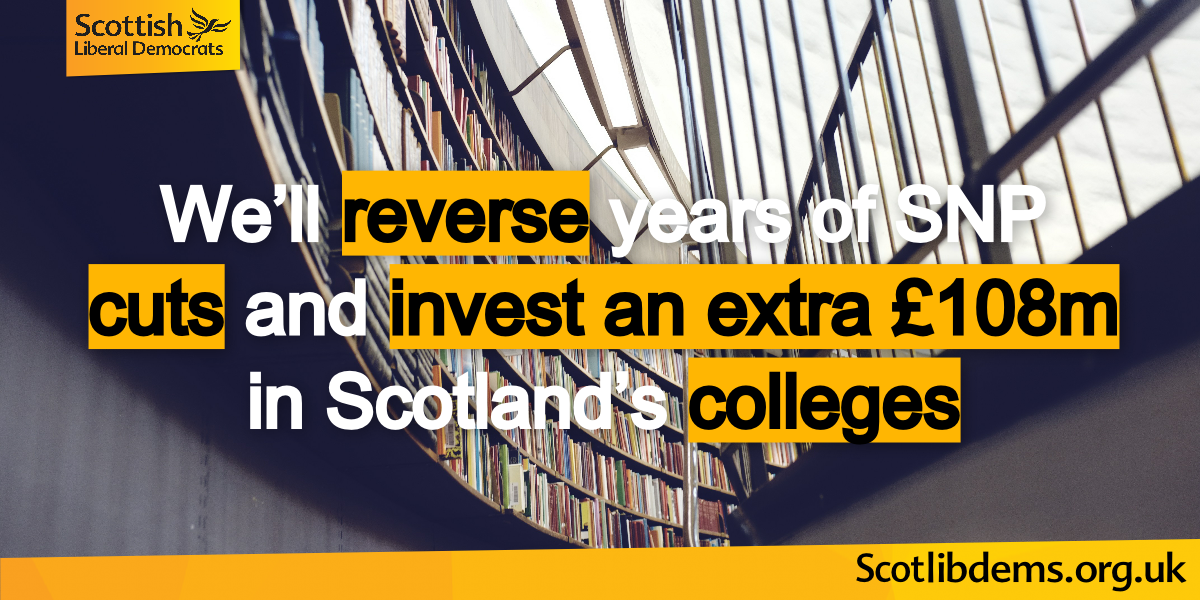£108 million extra investment in colleges