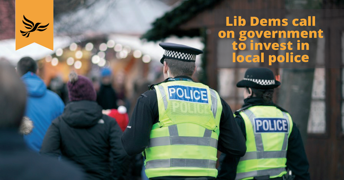 Lib Dems call on government to invest in local police