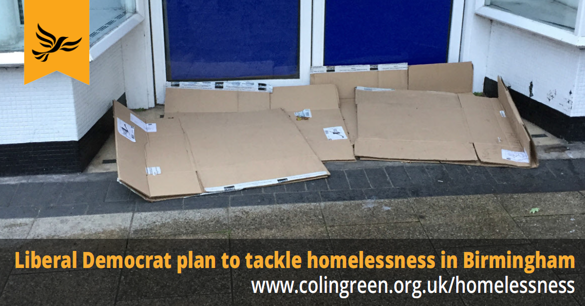 Lib Dem plan to tackle homelessness