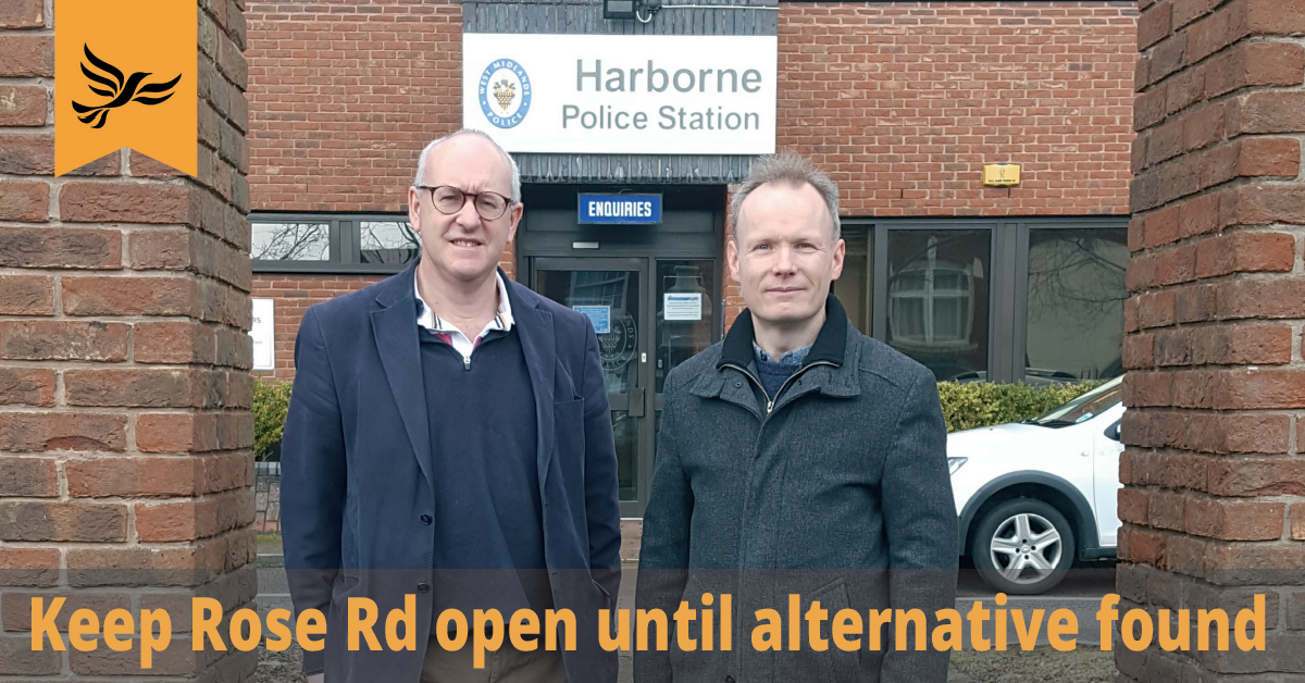 Harborne Police Station To Close