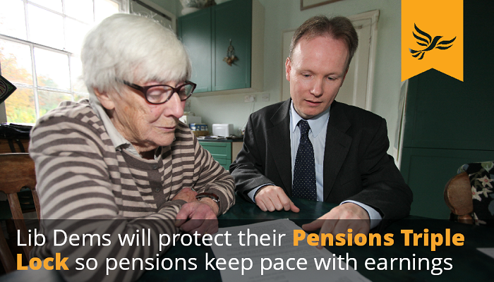 Lib Dems will protect the Pensions Tripple Lock