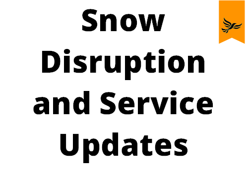 Snow Distruption and Service Updates