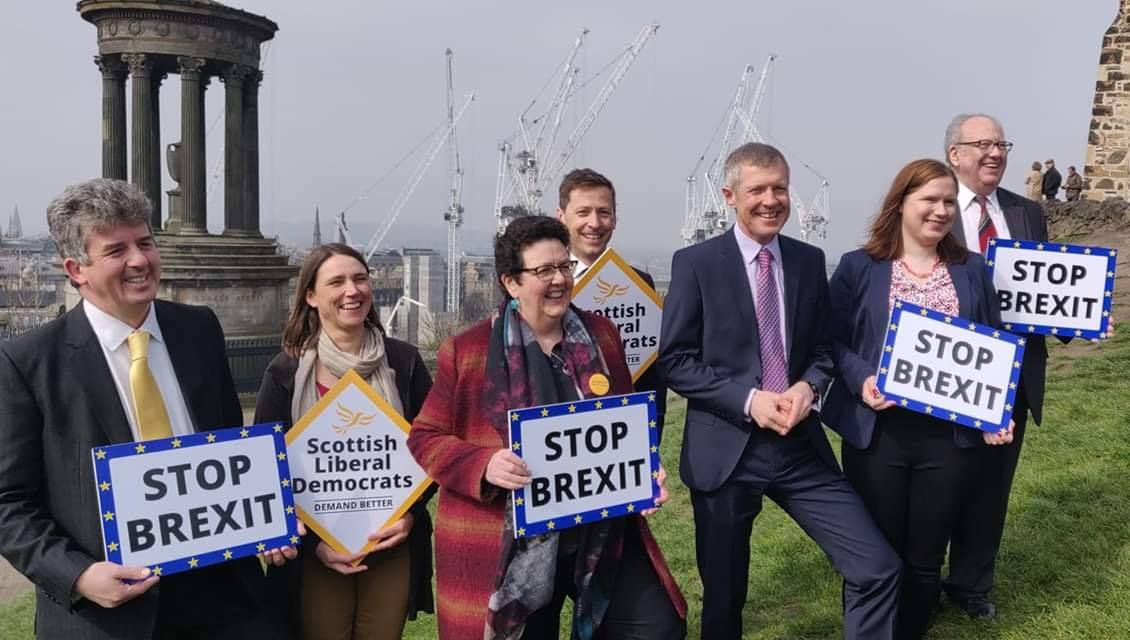 Willie Rennie with the Scottish Liberal Democrat European Candidates