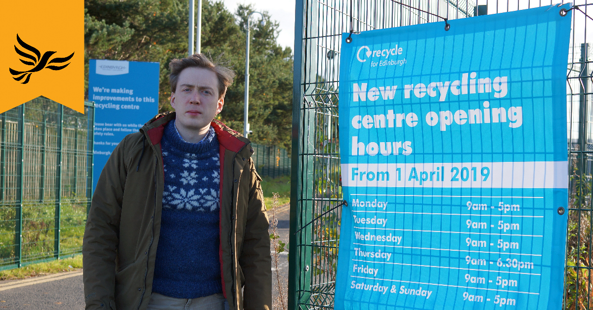 Extend Sighthill Recycling Centre Opening Hours