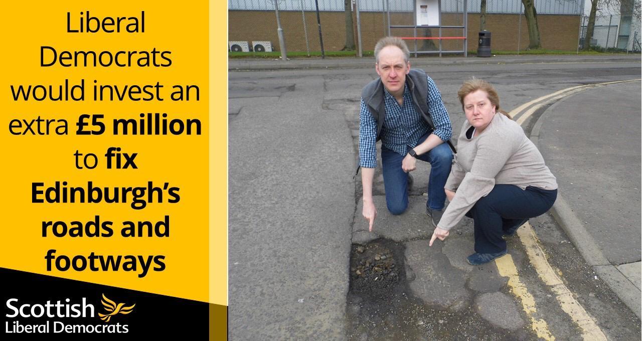 Fixing Edinburgh's roads and pavements