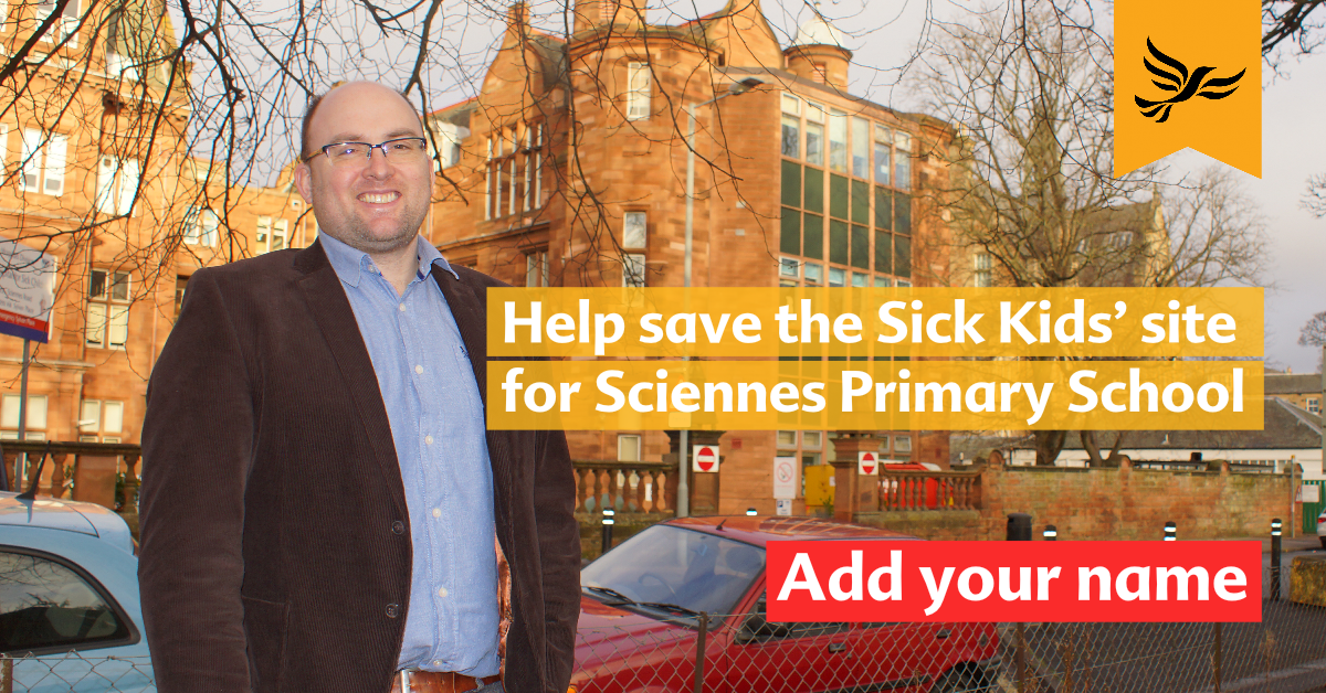 Help Save The Sick Kids Site for Sciennes Primary