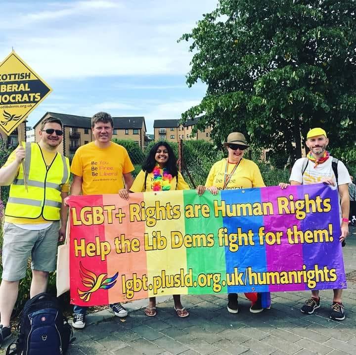 Lib Dems back Glasgow Pride