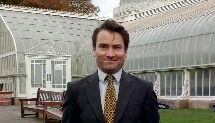Andrew Chamberlain at Kibble Palace, Botanic Gardens