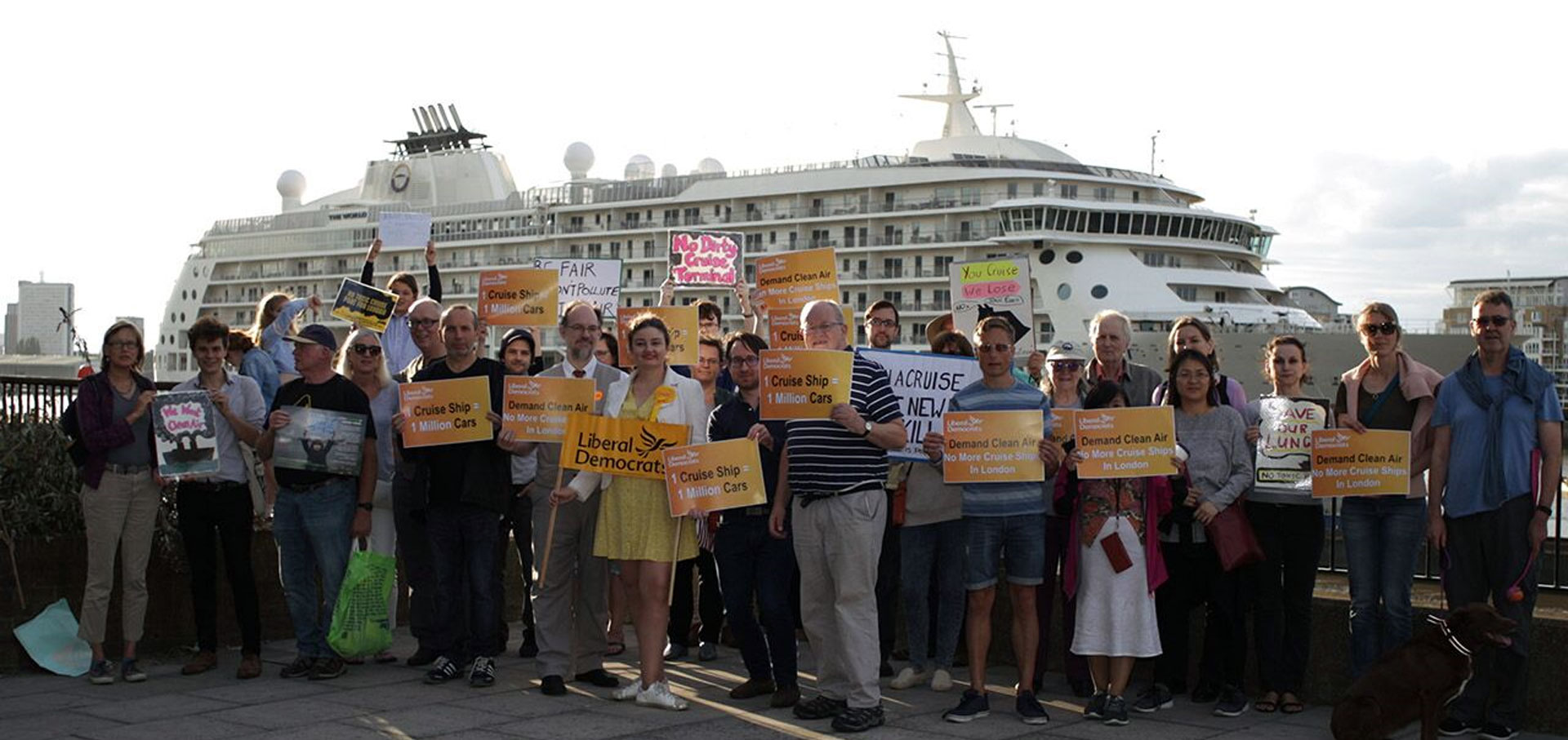 Petition against Cruise Ships Mooring inside ULEZ