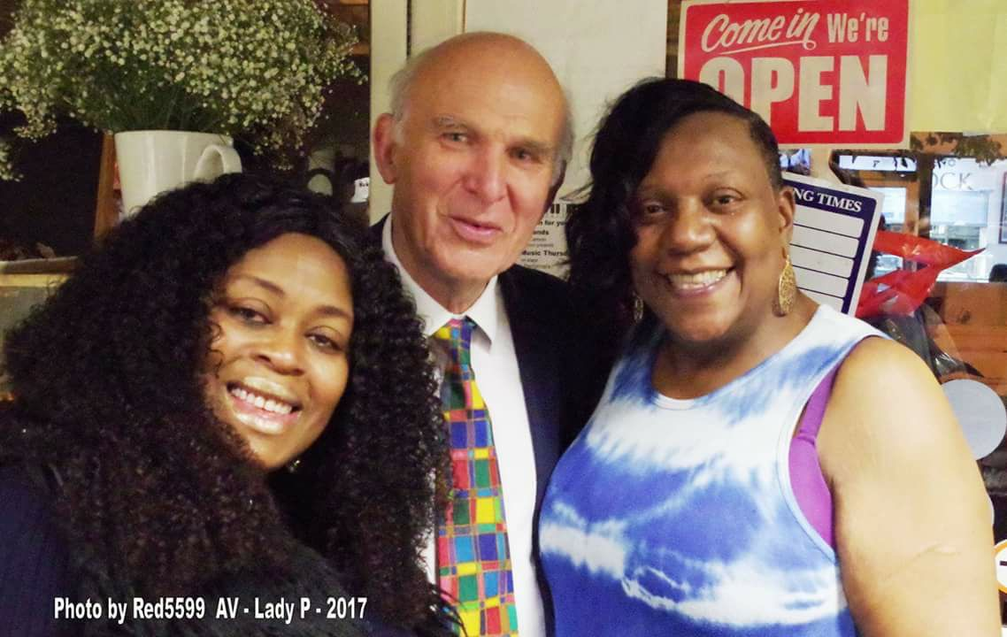 Vince Cable with Pauline Pearce