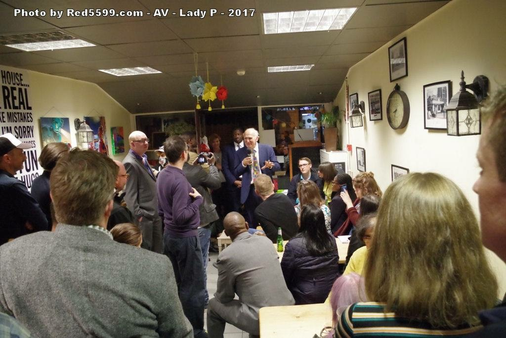 Vince speaks to Hackney activists