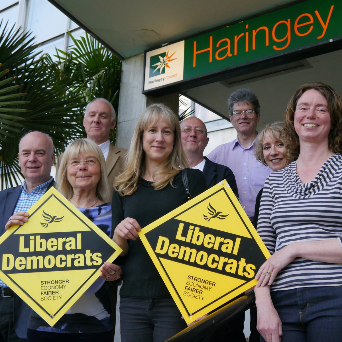 Haringey's Lib Dem Councillors at the Civic Centre in Wood Green