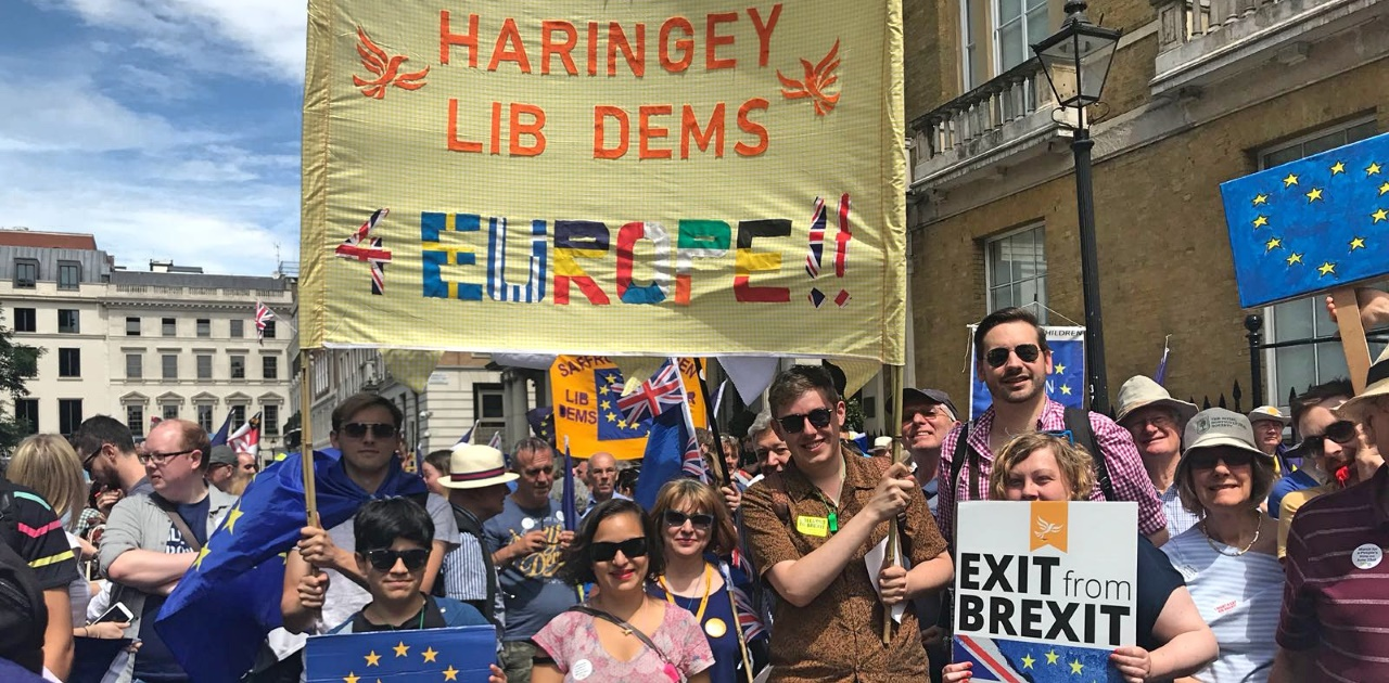 Haringey Lib Dems at the March for Europe