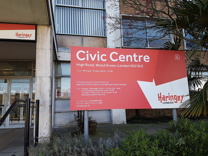 Civic Centre in Wood Green