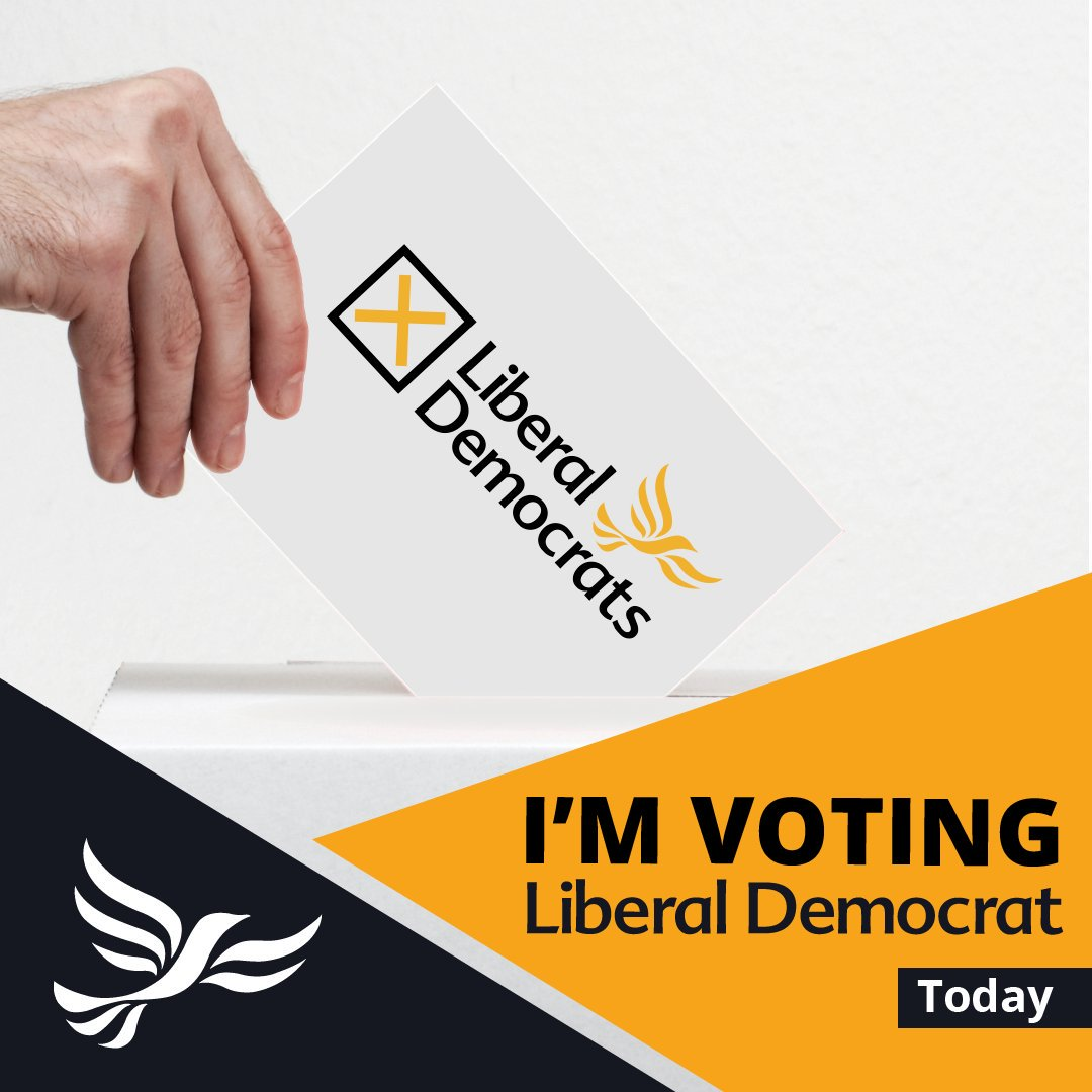 I'm voting Lib Dem!