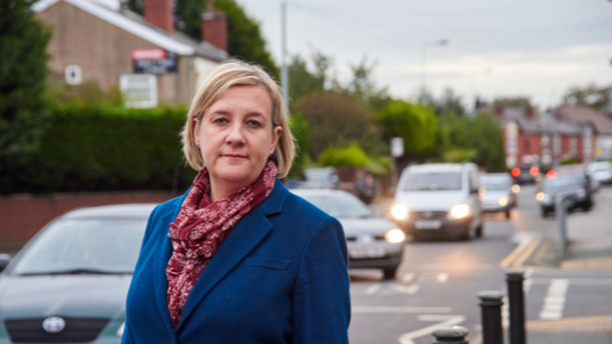 Lisa Smart, campaigning on local housing issues