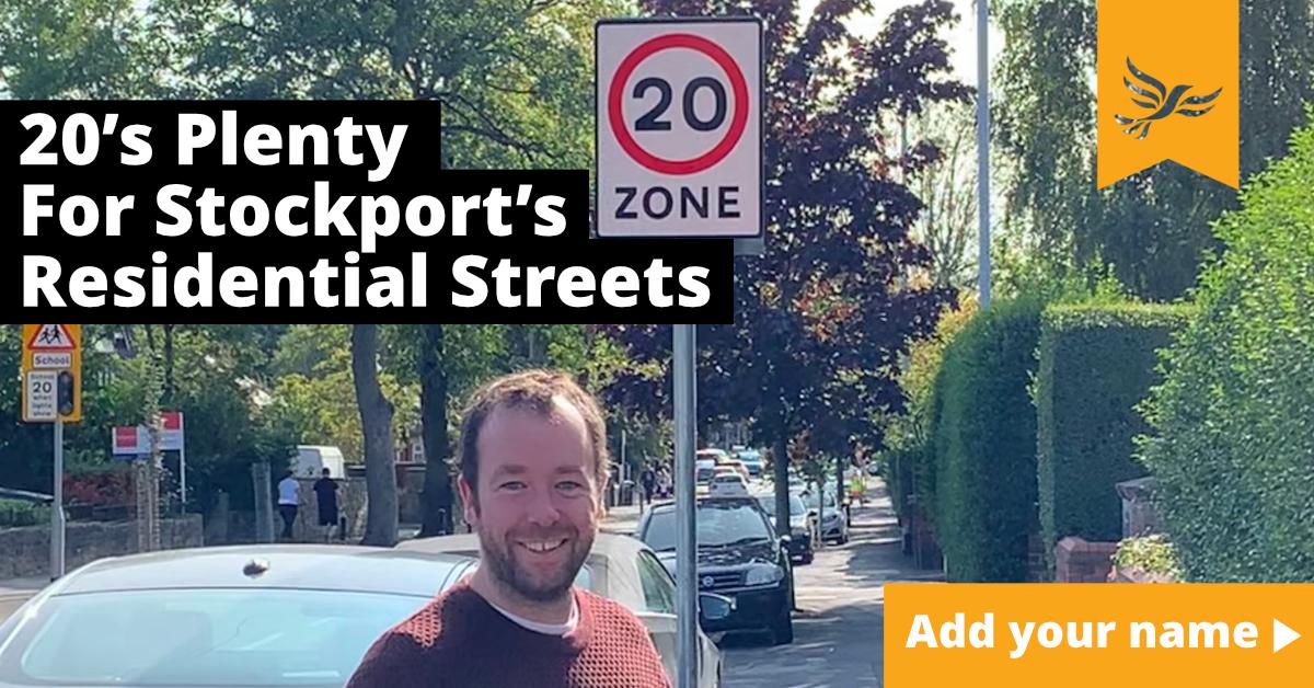 20's Plenty for Residential Streets Across Stockport