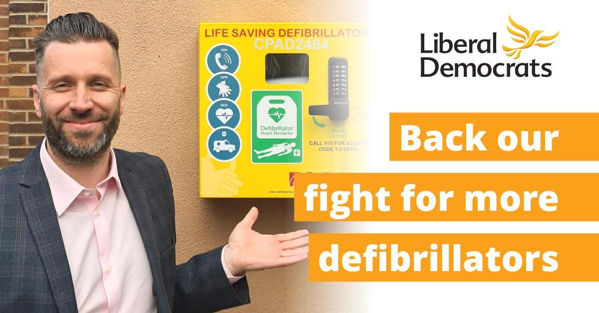 Support our Defibrillator Campaign