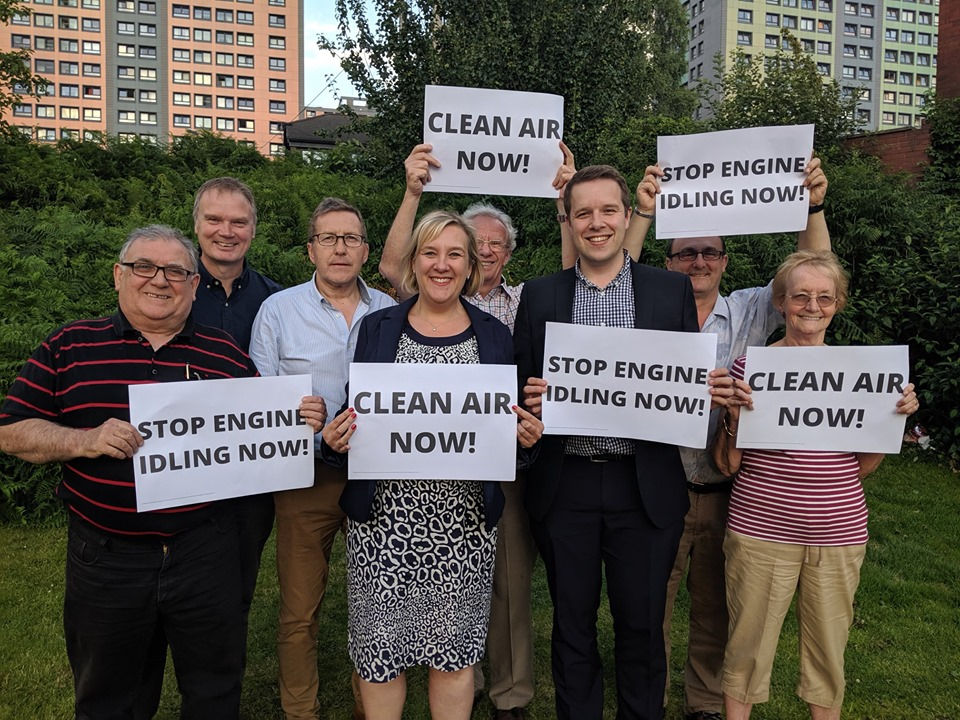 Lisa Smart and Stockport Liberal Demcrats clean air campaign