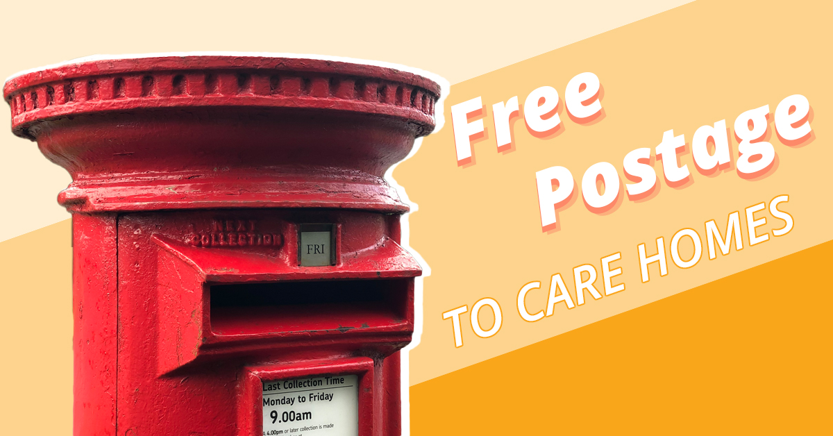 Free postage to care homes