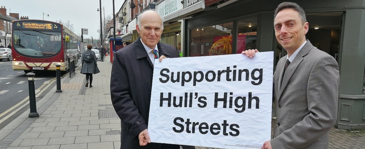 Vince Cable launches Hull High Street support scheme