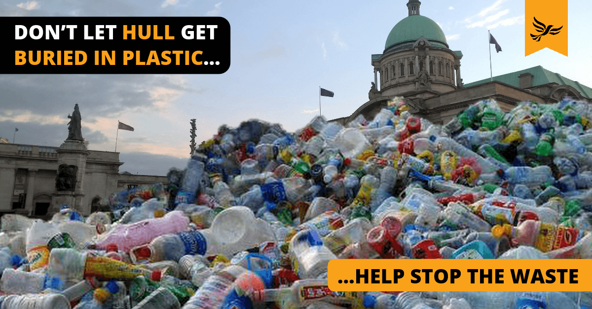 Don't let Hull get buried in plastic - help stop the waste today!