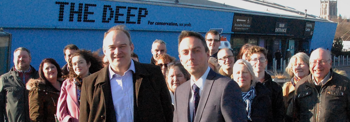Ed Davey joins the fight to save The Deep