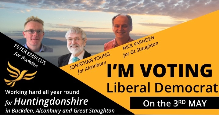 Your Liberal Democrat candidates for Buckden, Alconbury and Great Staughton