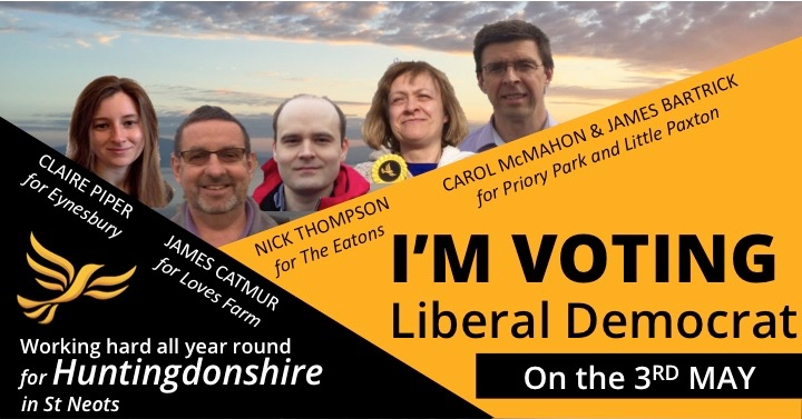 Your LIBERAL DEMOCRAT candidates for St Neots
