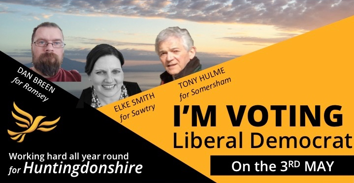 Your LIBERAL DEMOCRAT candidates for Somersham, Sawtry and Ramsey