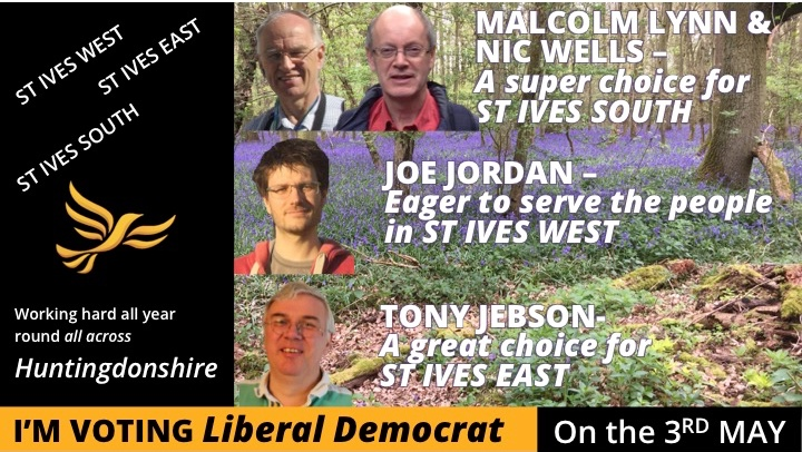 Our team is ready to serve YOU in St Ives - Vote Lib Dem on 3rd May
