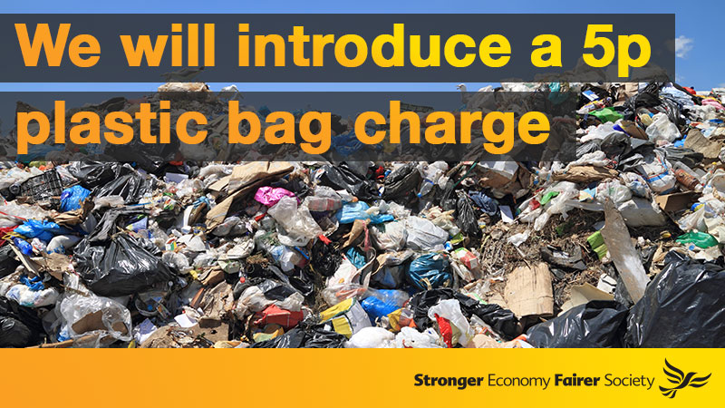 Plastic Bag Charge is a Lib Dem success story