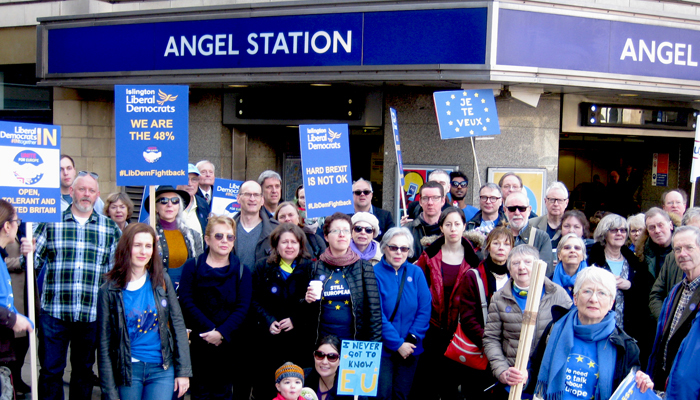 Islington LibDems March for Europe