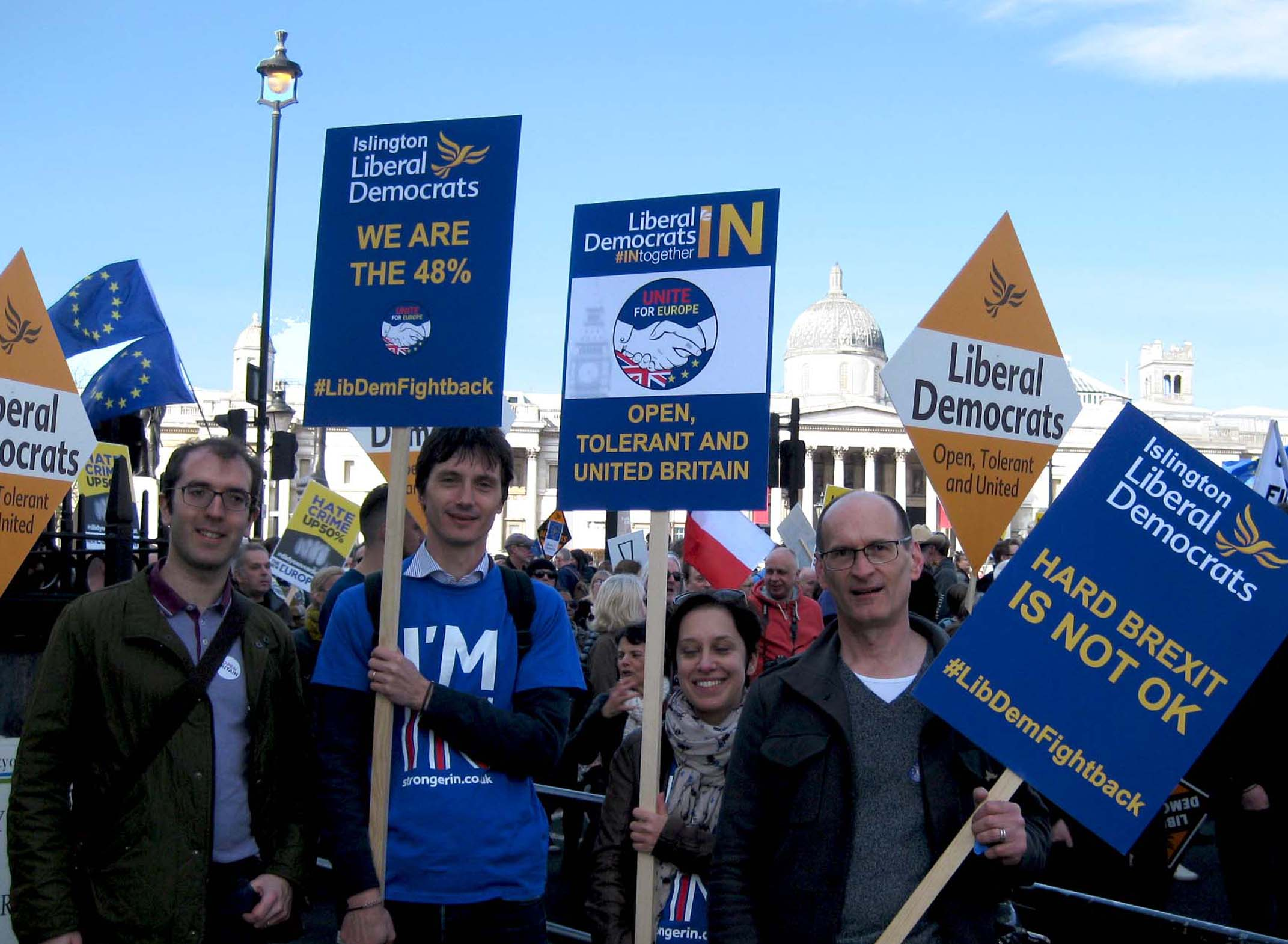 Islington LibDems at Trafalgar Square