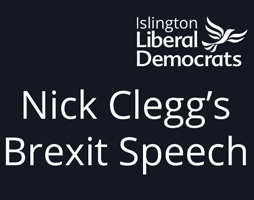 Nick Clegg's Brexit Speech