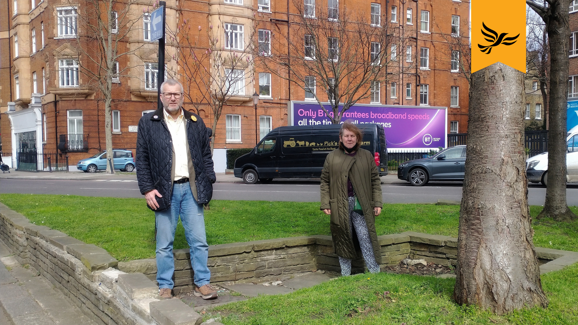 K&C Liberal Democrats call for Warwick Road to be made Safe To Cross