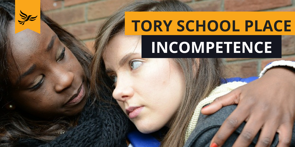 Tory Secondary School place incompetence