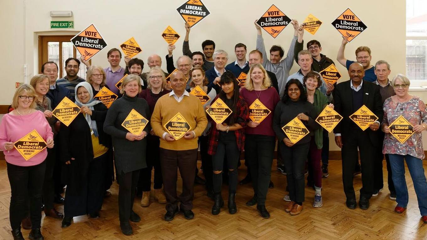 Kingston Liberal Democrats Local elections 2018 group photo of candidates
