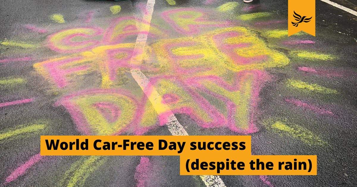 World Car-Free Day success (despite the rain)