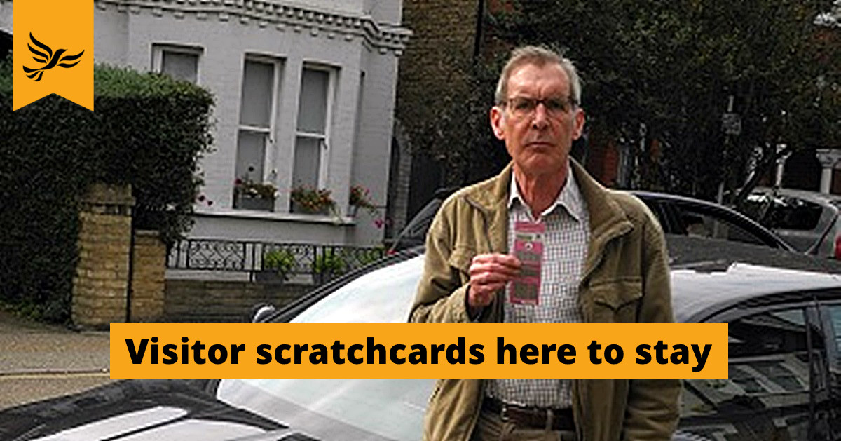 Retaining visitor scratchcards