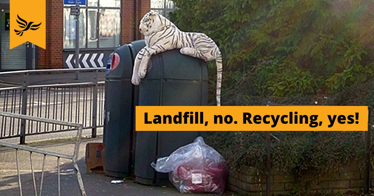 Liberal Democrats lead exciting on-the-go recycling proposals for Kingston's street bins