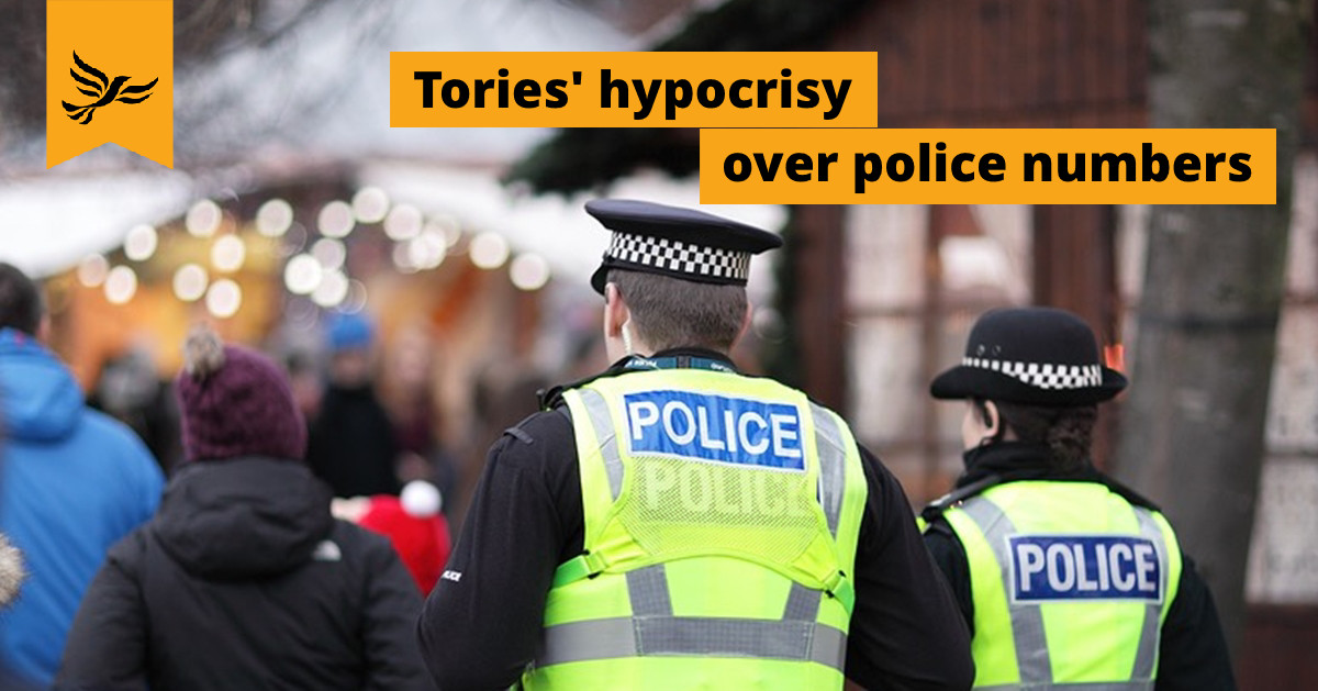 Tories' hypocrisy over police numbers