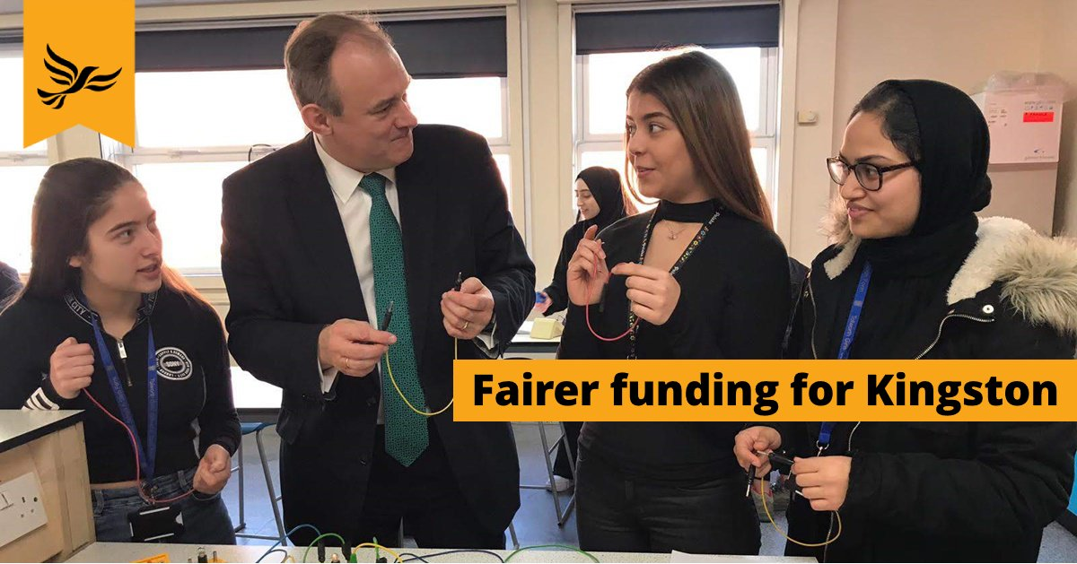 Ed Davey: Fairer funding for Kingston