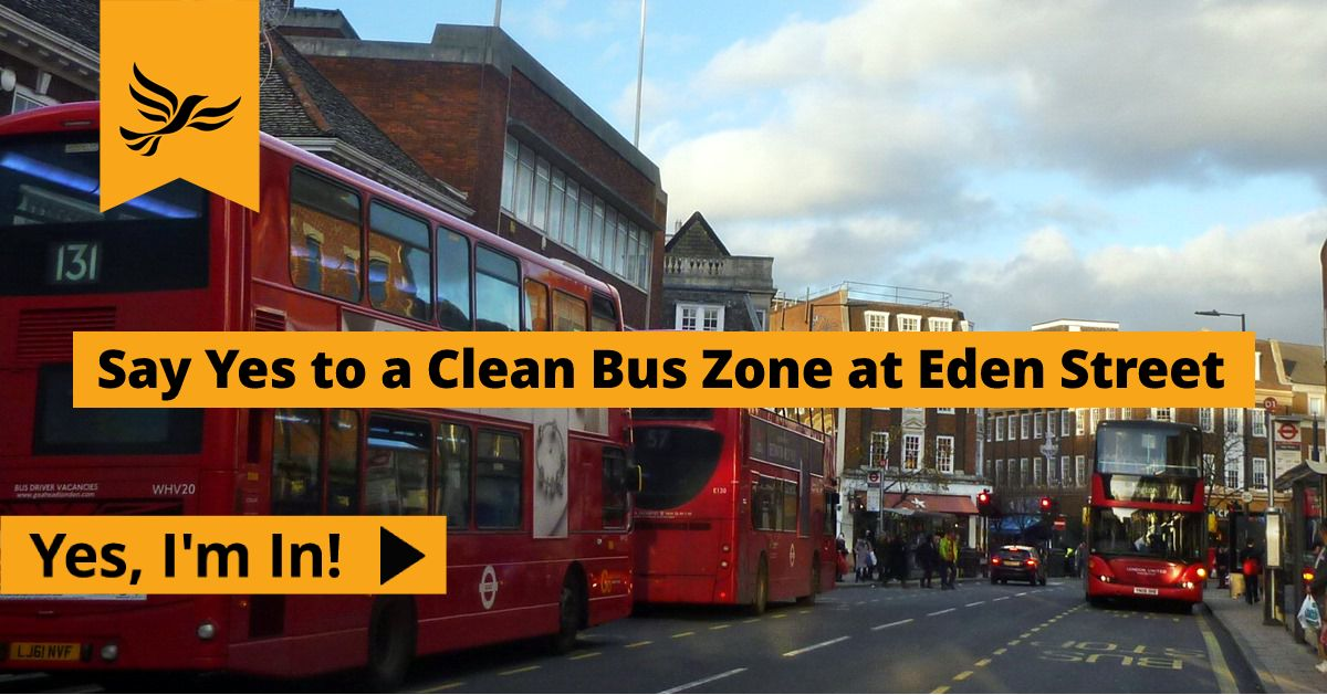 Clean Bus Zone at Eden Street
