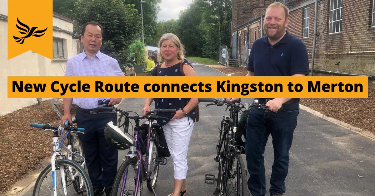 Go Cycle Kingston to Merton Cycle Route Opens