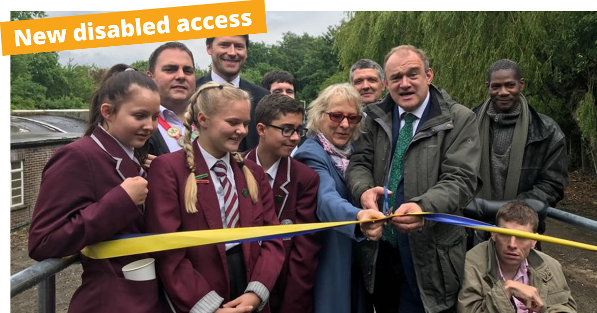 New disabled access for Chessington South station