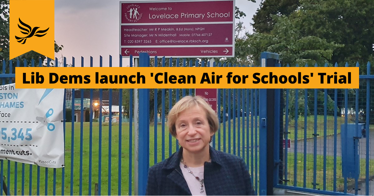 Liberal Democrats launch 'Clean Air for Schools' trial