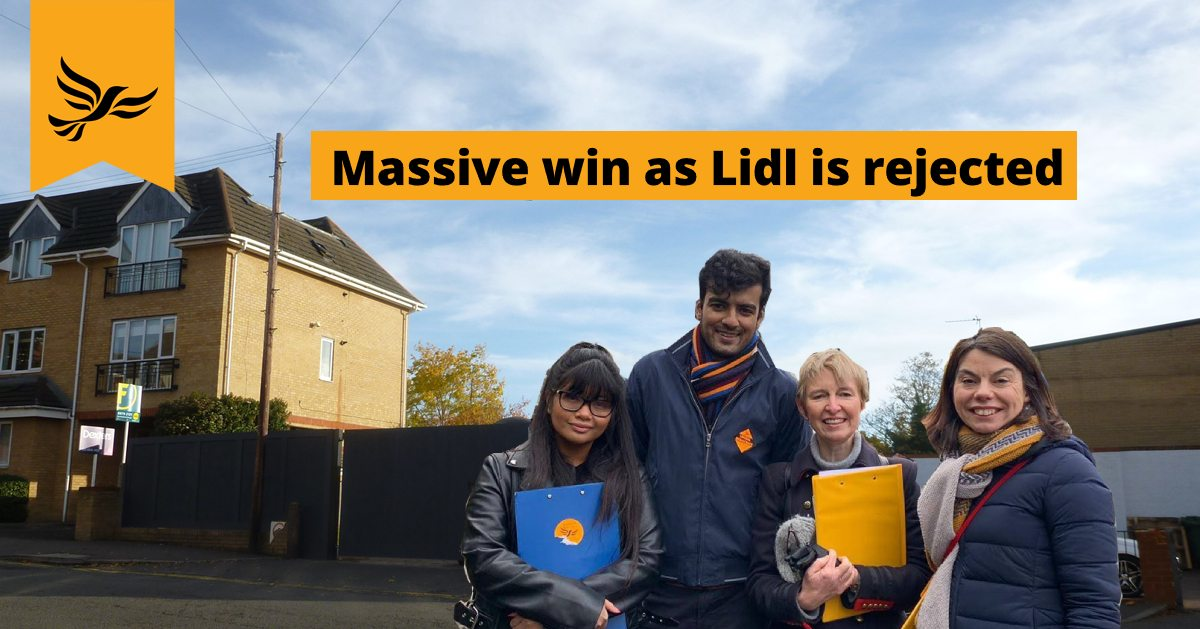 Massive win as Lidl is rejected