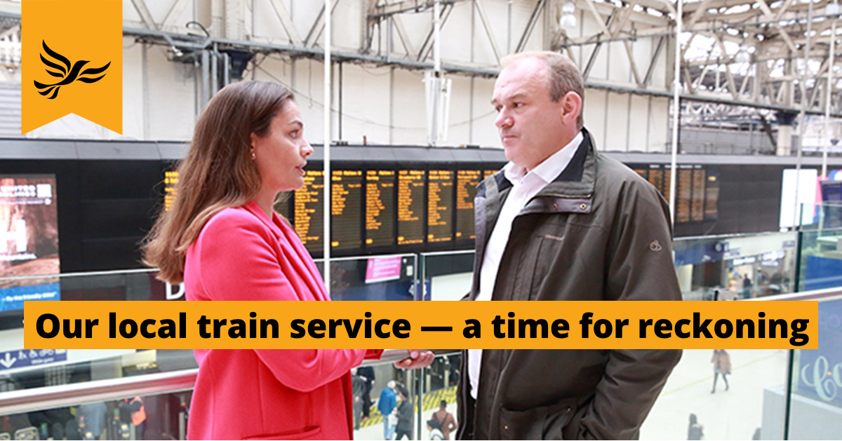 Our local train service — a time for reckoning