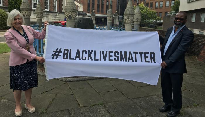 Black Lives Matter Flag Raised over Kingston Guildhall